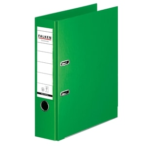 Biblioraft plastifiat FALKEN Chromcolor, A4, 80 mm, verde PBOFA026809