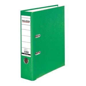 Biblioraft plastifiat/cartonat FALKEN, A4, 50 mm, verde PBOFA029514