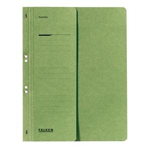 Dosar cu gauri FALKEN, 1/2, A4, carton, verde PBOFA0934