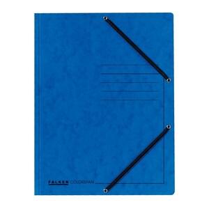 Dosar plic cu elastic FALKEN, A4, carton, albastru PBOFA100121