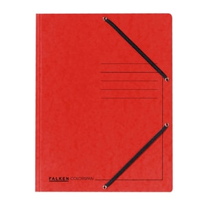 Dosar plic cu elastic FALKEN, A4, carton, rosu PBOFA100122
