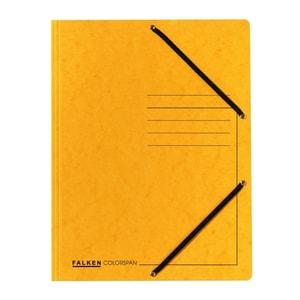 Dosar plic cu elastic FALKEN, A4, carton, galben PBOFA100124