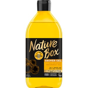 Gel de dus NATURE BOX Macadamia, 385ml GELHBNB0018