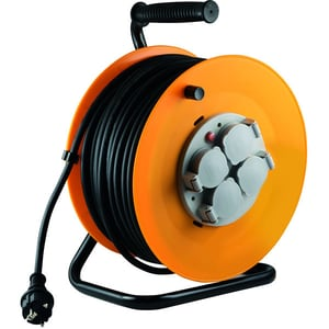 Prelungitor cu tambur metalic HOME HJR 10-50, 4 prize, IP44, 50m PRZHJR1050
