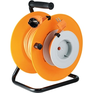Prelungitor cu tambur metalic HOME HJR 24-30, 1 priza, 27 + 3m PRZHJR2430