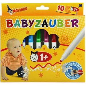 Set carioci pentru bebelusi MALINOS, 12 luni+, 10 culori JBB300011