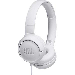 Casti JBL Tune 500, Cu fir, On-ear, Microfon, alb CASJBLT500WHT