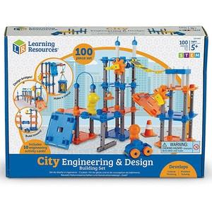 Set STEM LEARNING RESOURCES Construieste oraselul LER2843, 5 - 9 ani, 50 piese JINLER2843