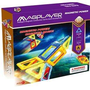 Joc constructie magnetic MAGPLAYER MPA-20, 3 - 10 ani, 20 piese JINMPA20