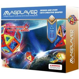 Joc constructie magnetic MAGPLAYER MPB-30, 3 - 10 ani, 30 piese JINMPB30