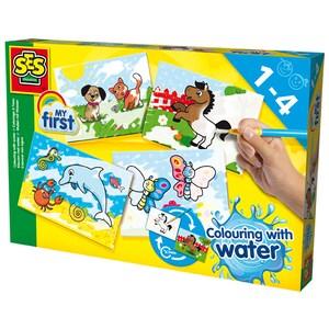 Set pentru colorat cu apa SES My First Colouring with water S14421, 12 luni+, multicolor JINS14421