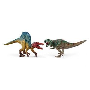 Set figurine SCHLEICH Spinosaurus si T-Rex SL41455, 3 ani+, multicolor JINSL41455