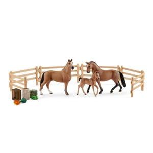 Set figurine SCHLEICH Familia Hanoveriana SL42405, 5 - 12 ani, maro-negru JINSL42405