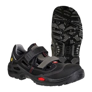 Sandale de protectie JALAS 1605 S1P SRC, bombeu aluminiu, PU, marime 38, negru EPRJL000138