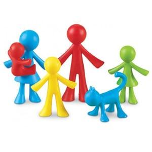 Set pentru sortat si numarat LEARNING RESOURCES Familia mea LER3660, 3 - 7 ani, multicolor JOCLER3660