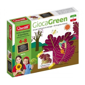 Joc educativ QUERCETTI Micul gradinar cultiva salata Q0671, 4 - 8 ani JOCMGQ0671