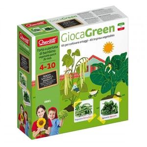 Joc educativ QUERCETTI Micul gradinar cultiva spanac si fasole verde MGQ0681, 4 - 10 ani JOCMGQ0681