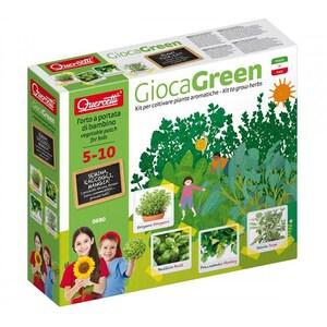 Joc educativ QUERCETTI Micul gradinar cultiva plante aromatice Q0690, 5 - 10 ani JOCMGQ0690