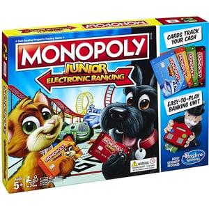 Joc de societate HASBRO Monopoly Junior Electronic Banking E1842, 5 ani+, 2 - 4 jucatori JOCMONE1842