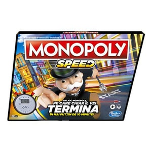 Joc de societate HASBRO Monopoly Speed E7033, 8 ani+, 2 - 4 jucatori JOCMONE7033