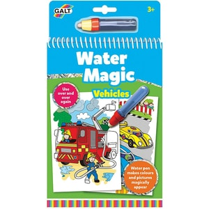 Carte de colorat GALT Water Magic Vehicule 1004933, 3 ani+, 6 imagini JUC1004933