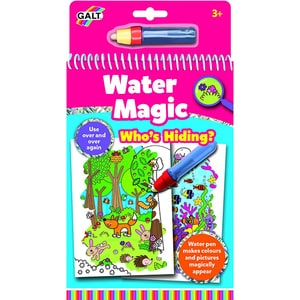 Carte de colorat GALT Water Magic Who's Hiding? 1005038, 3 ani+, 6 imagini JUC1005038