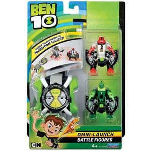 Set BEN 10 76790: ceas Omnitrix lansator + 2 figurine XLR8 si Torta vie, 4 ani+, multicolor JUCBEN76790