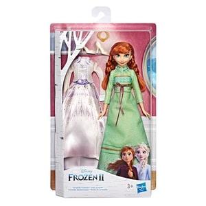 Papusa HASBRO Disney Frozen II Anna Fashion E6908, 3 ani+, alb-verde JUCFRZE6908