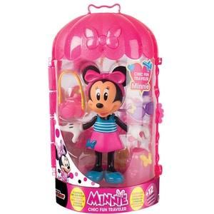 Figurina DISNEY Minnie Mouse cu accesorii in calatorie 182905, 3 ani+, multicolor JUCMIN182905