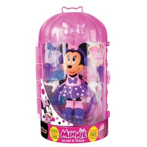 Figurina DISNEY Minnie Mouse Glam&Train cu accesorii 182929, 3 ani+, multicolor JUCMIN182929