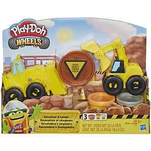 Set PLAY DOTH Wheels - Excavator E4294, 3 ani+, galben-negru JUCPDE4294