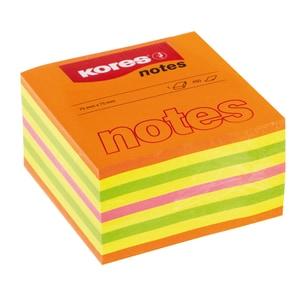 Notite adezive KORES, 450 file, 75 x 75mm, diverse culori PBHKS48465