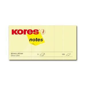 Notite adezive KORES, 300 file, 40 x 50mm, galben PBHKS878050