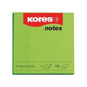 Notite adezive KORES, 100 file, 75 x 75mm, verde PBHKS879044