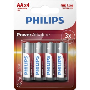 Baterie alcalina PHILIPS LR6, AA, 4 bucati BATLR6P4B10