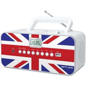 Radio CD portabil MUSE M-28 UK, FM, USB, alb RCDMSE00071
