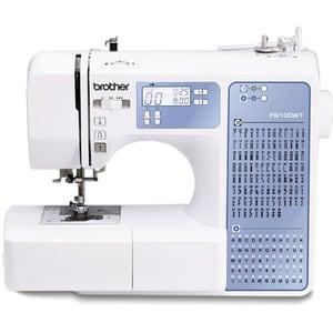 Masina de cusut BROTHER FS100WT, 100 programe, alb-albastru MASFS100WTVM1