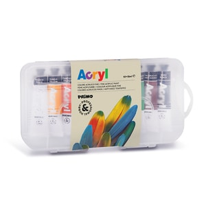 Tempera acrilica fina MOROCOLOR, 18 ml, 10 culori PBSMC004056