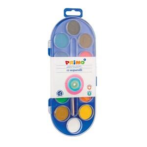 Acuarele cu pensula inclusa MOROCOLOR, Diametru 30 mm, 12 culori PBSMC15402