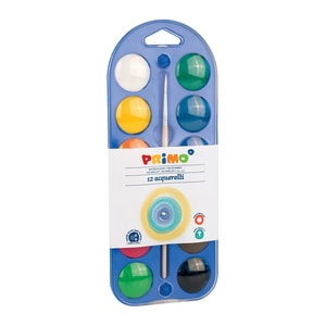 Acuarele cu pensula inclusa MOROCOLOR, Diametru 30 mm, 12 culori PBSMC15507