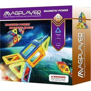 Joc constructie magnetic MAGPLAYER MPB-14, 3 ani +, 14 piese JINMPB14