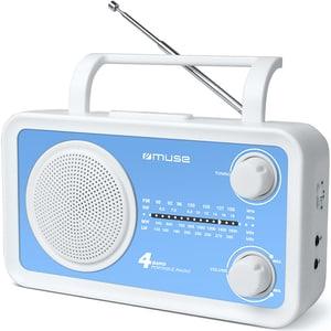 Radio portabil MUSE M-05 BL, FM, alb-albastru LMCMSE00054