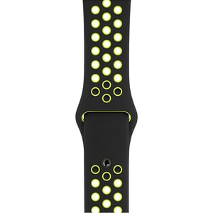 Bratara pentru APPLE Watch Black/Volt Nike Sport Band, 38/40mm, MTMN2ZM/A, negru/verde BRTMTMN2ZM