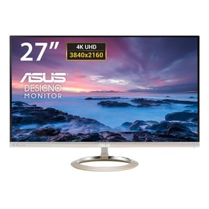 "Monitor LED AH-IPS ASUS MX27UC, 27"", 4K UHD, 60Hz, Icicle Gold - Black MONMX27UC"
