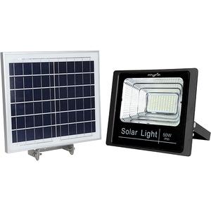 Proiector LED cu panou solar MYRIA MY2246, 50W, 3500 lumeni, IP65, argintiu CIEMY2246