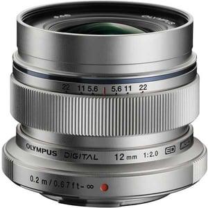 Obiectiv foto OLYMPUS M.ZUIKO Digital ED 12mm f/2.0, argintiu OBIM12MM20SL