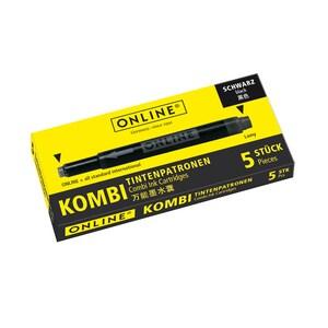 Patroane cerneala ONLINE Combi, 5 buc, negru PBION017306
