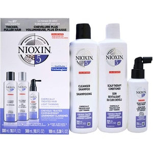 Set NIOXIM Sistem No.5: Sampon, 300ml + Balsam de par, 300ml + Tratament pentru par, 100ml PAK187408