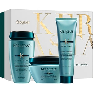 Set cadou KERASTASE Resistance: Sampon, 250ml + Masca de par, 200ml + Tratament Leave-in, 125ml PAK202880
