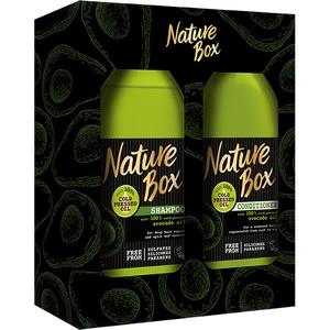 Set cadou NATURE BOX Avocado: Sampon, 385ml + Balsam de par, 385ml PAKHBOF0180